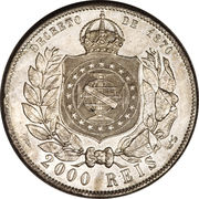 2000 réis - Pedro II -  revers