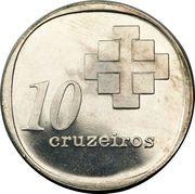 10 cruzeiros (10 ans de la banque centrale) – revers