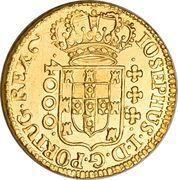 4000 réis - José I – avers