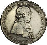 ½ thaler Joseph Christian – avers