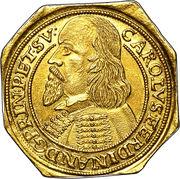 3 ducat Karl Ferdinand (klippe) – avers
