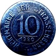 10 pfennig - Breslau (Strassenbahn) – revers