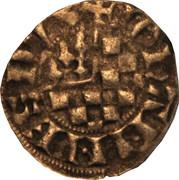 Denier à l'écu de Dreux et au franc Quartier de Bretagne - Jean II – avers