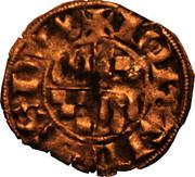 Denier à l'écu écartelé de Bretagne et de Dreux - Jean III le Bon – avers