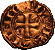 Denier à l'écu écartelé de Bretagne et de Dreux - Jean III le Bon – revers