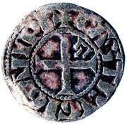 Denier au Lambel - Jean II ou Arthur II – revers