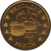 10 cents d'E - Bretagne (essai non officiel) – avers