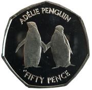 50 Pence - Elizabeth II Adélie penguin – revers