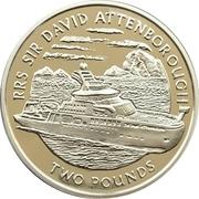 2 Pounds - Elizabeth II (RRS Sir David Attenborough) – revers