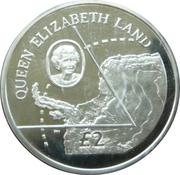2 livres Terre de la Reine-Élisabeth (argent) – revers
