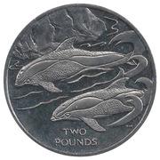2 livres - Elizabeth II (Hourglass Dolphin) – revers
