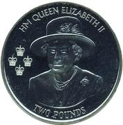 2 livres - Elizabeth II (90ème anniversaire de la reine Elizabeth II) – revers