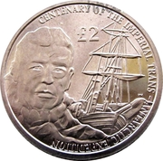 2 livres -  Elizabeth II (Centenary of Shackeltons Imperial Trans-Antarctic Expedition) – revers