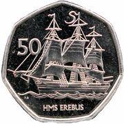 50 pence HMS Erebus – revers