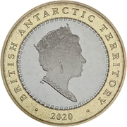 2 Pounds - Elizabeth II (200 Years Discovery of Antarctica) – avers