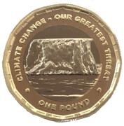 1 Pound - Elizabeth II (Climate Change) – revers