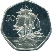 50 Pence (HMS Terror) – revers
