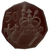 50 Pence - Elizabeth II (Queen's 95th Birthday - The Crown Jewels) – revers
