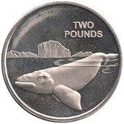 2 livres Baleine franche australe – revers
