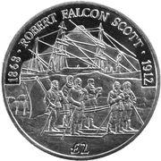 2 livres Robert Falcon Scott – revers