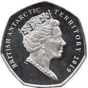 50 Pence - Elizabeth II  (Chinstrap penguin) – avers