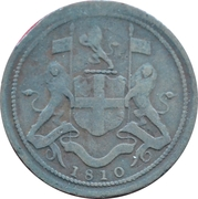 ½ cent, ½ pice – avers