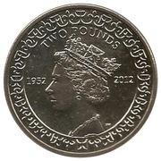 2 Pounds - Elizabeth II (Jubilé de diamant) – revers