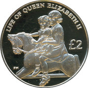 2 Pounds - Elizabeth II / Princess Margaret – revers