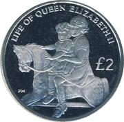 2 Pounds - Elizabeth II (Princess Margaret) – revers