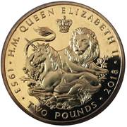 2 pounds - Elizabeth II (Sapphire Coronation) – revers