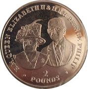 2 pounds Elizabeth II et Prince Philip – revers