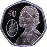 50 Pence - Elizabeth II (Florence Nightingale) – revers
