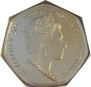 50 pence - Elizabeth II (95e anniversaire de la reine) – avers