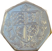 50 pence - Elizabeth II (95e anniversaire de la reine) – revers