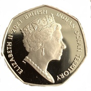 50 pence - Elizabeth II (Créatures de la mer) – avers