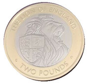 2 Pound - Elizabeth II (The Lion of England) – revers