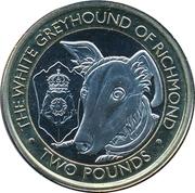 2 Pound - Elizabeth II (The White Greyhound of Richmond) – revers