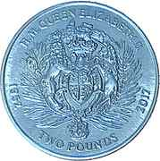 2 Pounds - Elizabeth II (Armoiries) – revers