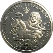 2 Pounds - Elizabeth II (Sapphire Coronation - Proof) – revers