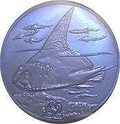 2 Pounds - Elizabeth II (Blue Midnight Manta Ray) – revers