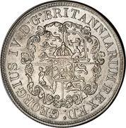 ½ dollar George IV – avers