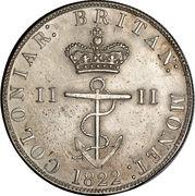 ½ dollar George IV – revers