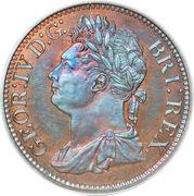1/100 dollar George IV (essai) – avers