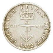 ⅛ dollar George IV – revers