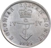 ¼ dollar George IV – revers