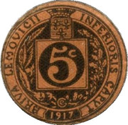 5 centimes - Union commerciale de Brive [19] – revers