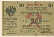 10 Heller (Brixlegg) – avers