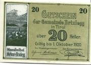 20 Heller (Brixlegg) – avers