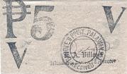 5 Pesos (Palawan; Brooke's Point) – revers