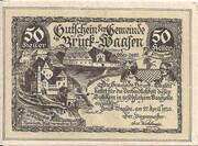 50 Heller (Bruck – Waasen) -  avers